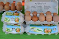 Bio-Eier, Bio-Haehnchen, Bio-Huhn, Bio-Ente, Bio-Gans, Bio-Nudeln, Bio-Eierlikör u.v.m.